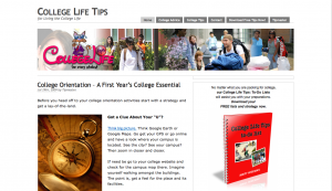 College Life Tips Site