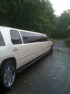 Prom Off in limo