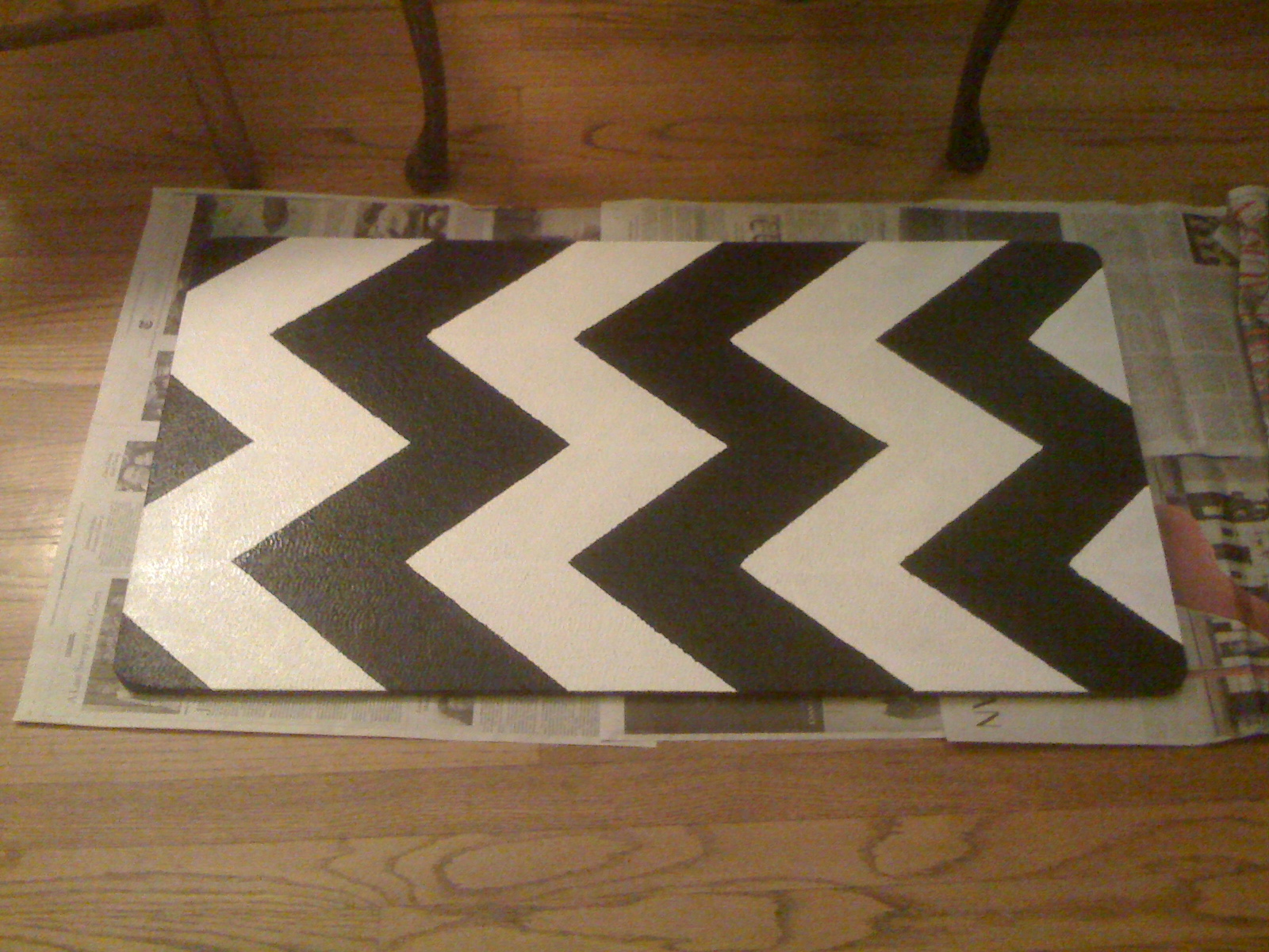 DIY: Painting Chevron Stripes on My Kitchen Rug | Mary ...